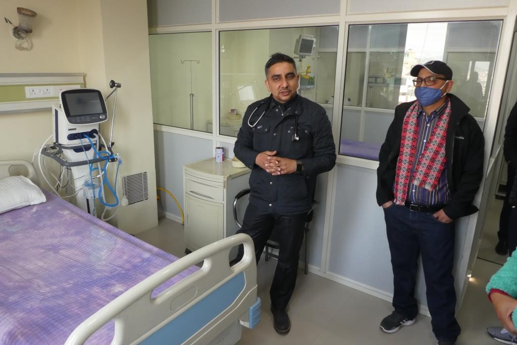 Dr. Poudel Isolierstation