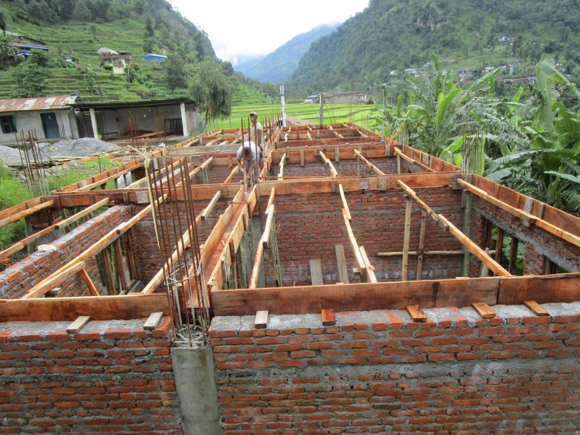 Rohbau des Neubaus