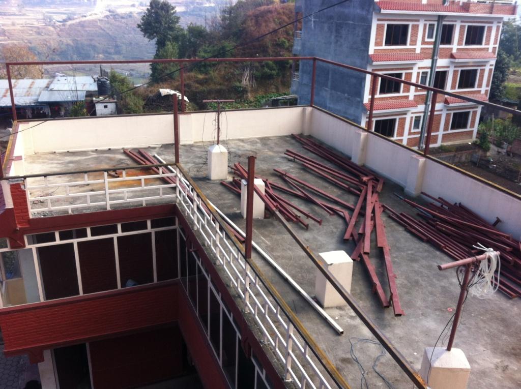Gerüst auf Dach